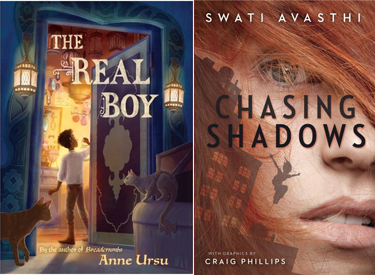 Ursu & Avasthi books The Real Boy and Chasing Shadows