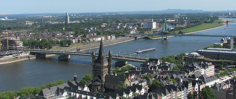Cologne Germany Arial View