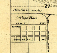 1876 map of College Place