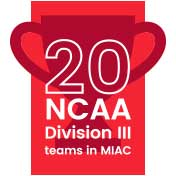 20 NCAA Division III teams.