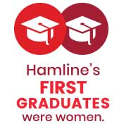 Hamline's first graduates were women.